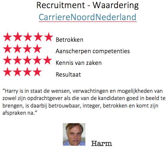 Recruitment Waardering